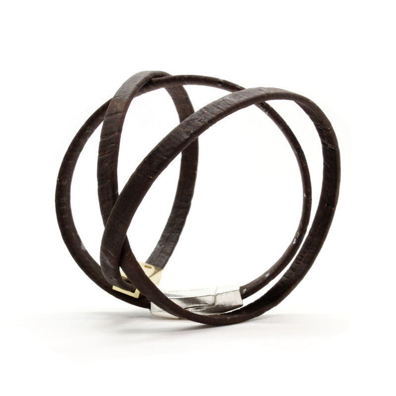 Dark Brown Double Wrap Bracelet
