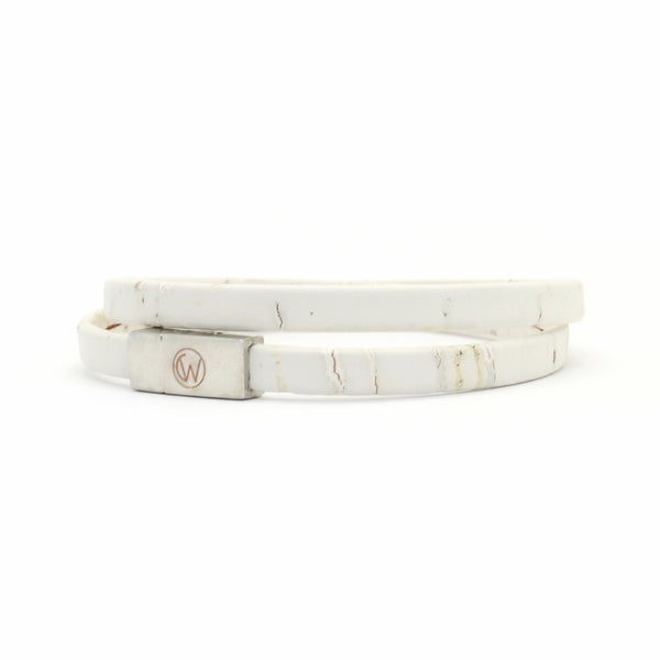 White Double Wrap Cork Bracelet