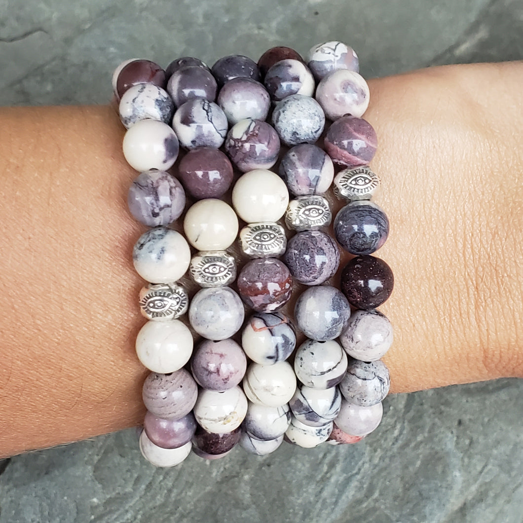 SELF CARE Intention Bracelet - Porcelain Jasper