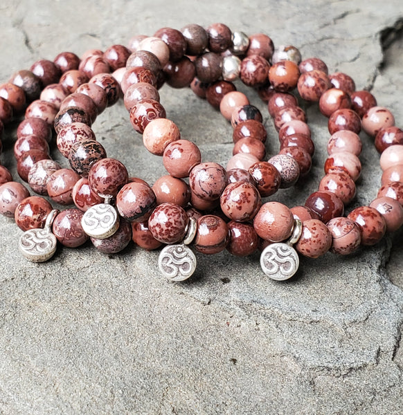BE GENTLE WITH YOURSELF Intention Bracelet - Artistic Jasper