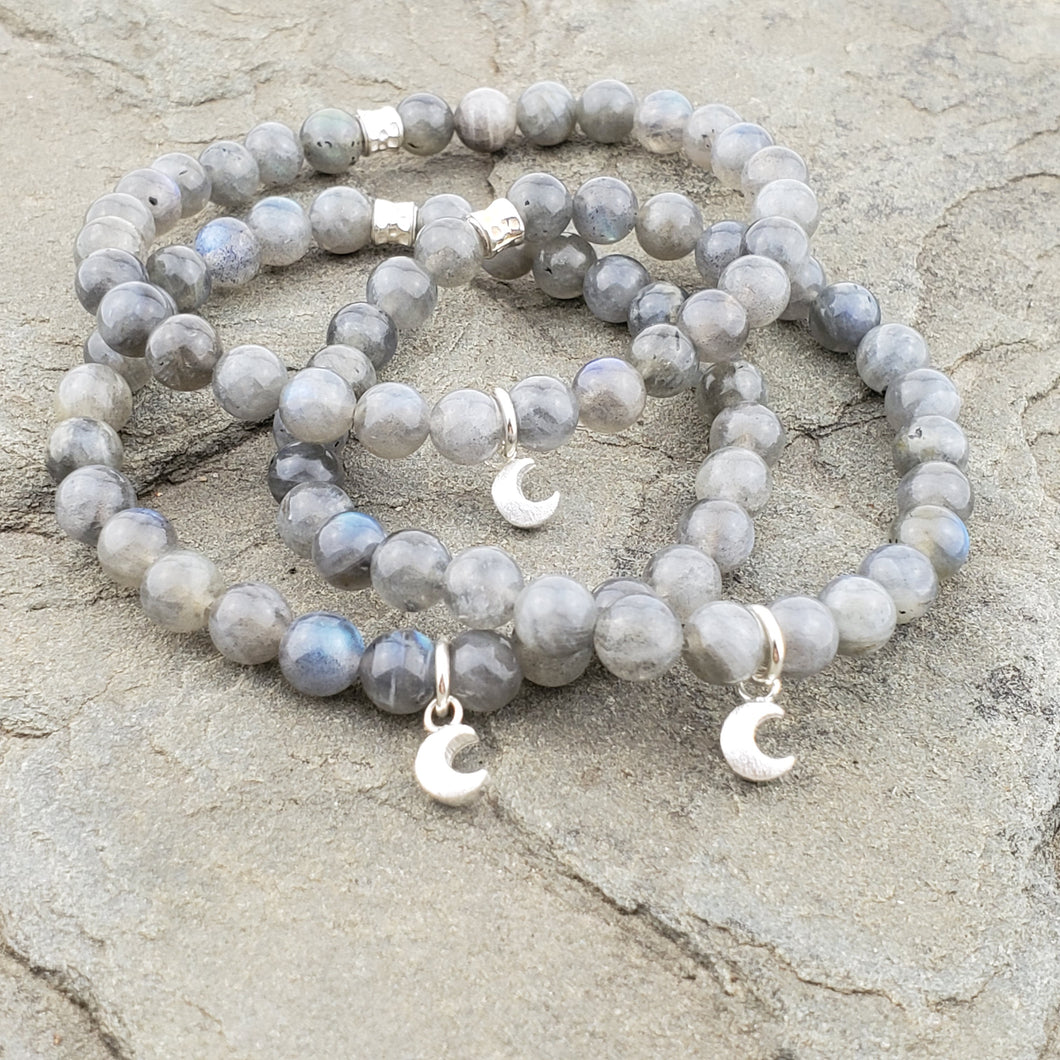 MAGIC + WONDER Intention Bracelet - Labradorite + Hill Tribe Silver