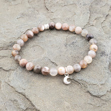 IN THE FLOW Intention Bracelet - Mixed Moonstone + Hill Tribe Silver