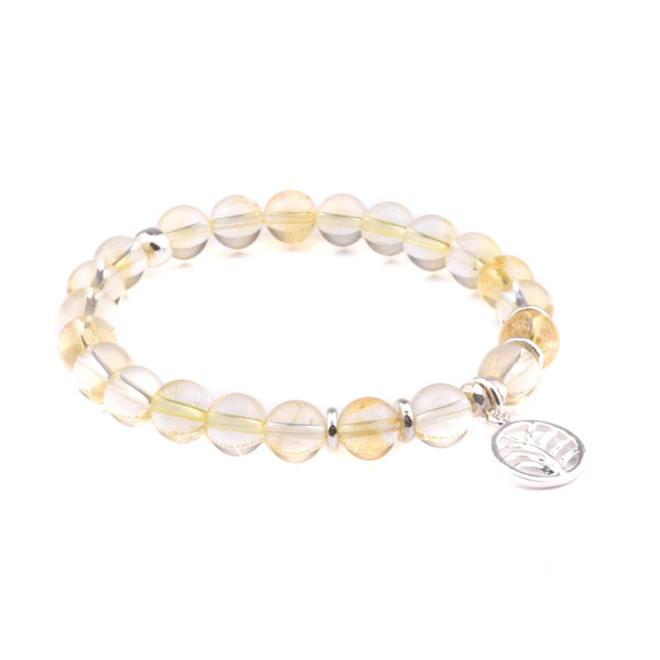 MANIFESTATION - Sacred Symbol Intention Bracelet - Citrine with Palm Leaf Charm