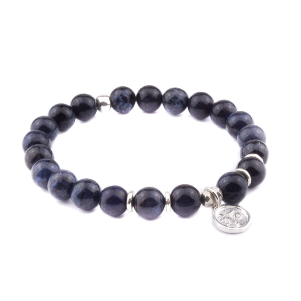 PATIENCE + TRUST - Sacred Symbol Intention Bracelet - Dumortierite with OM Charm