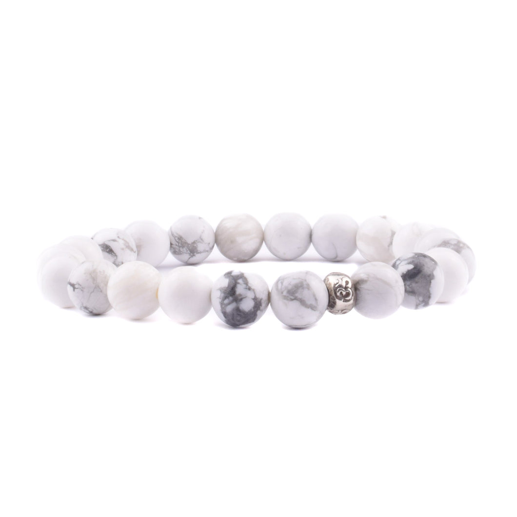 PEACE + CALM Intention Bracelet - Howlite