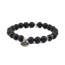 GUIDANCE + PROTECTION - Sacred Symbol Bracelet - Black Onyx with Eye of Horus Charm