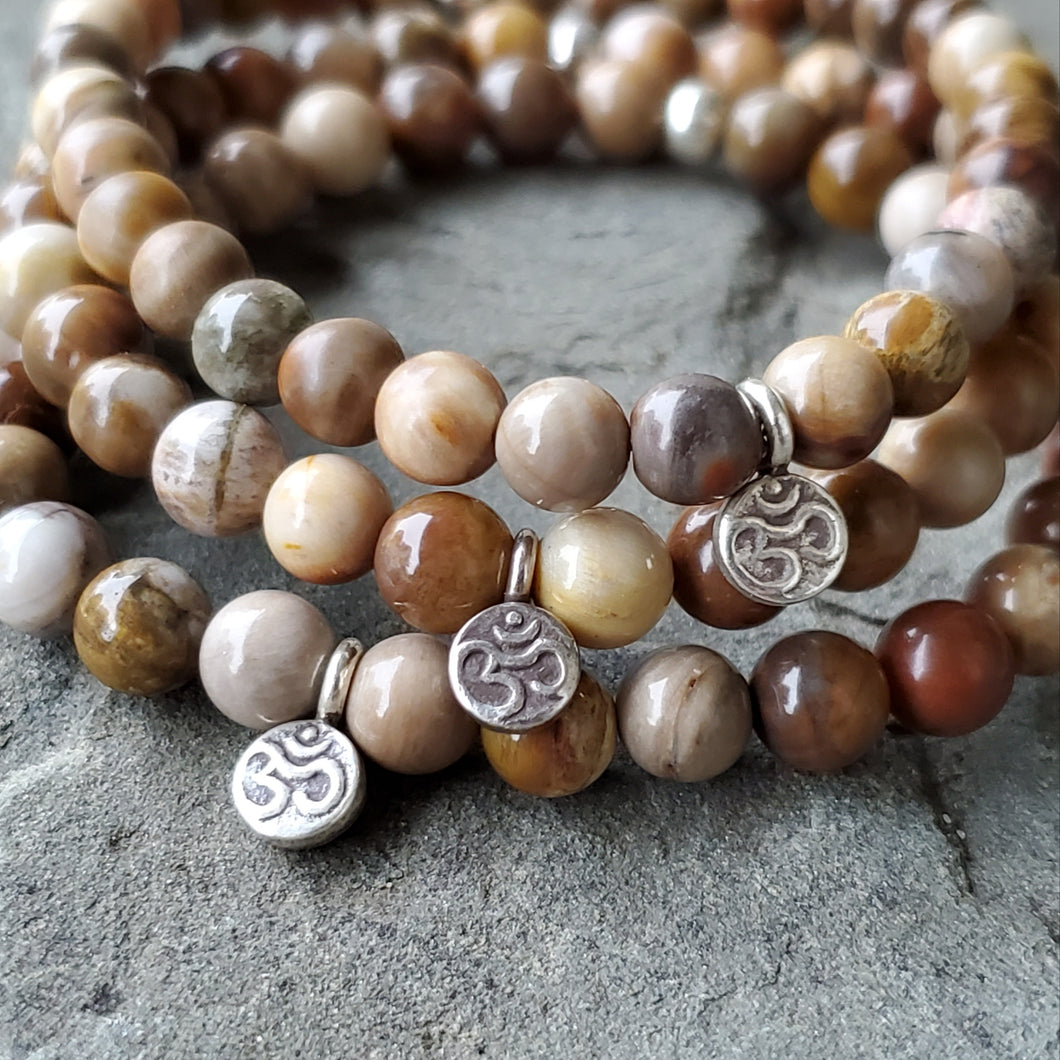GROUNDING Intention Bracelet - Petrified Wood Jasper