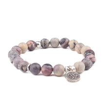 PEACE + NURTURING - Sacred Symbol Intention Bracelet - Porcelain Jasper with OM Charm