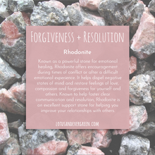 FORGIVENESS + RESOLUTION Intention Bracelet - Rhodonite