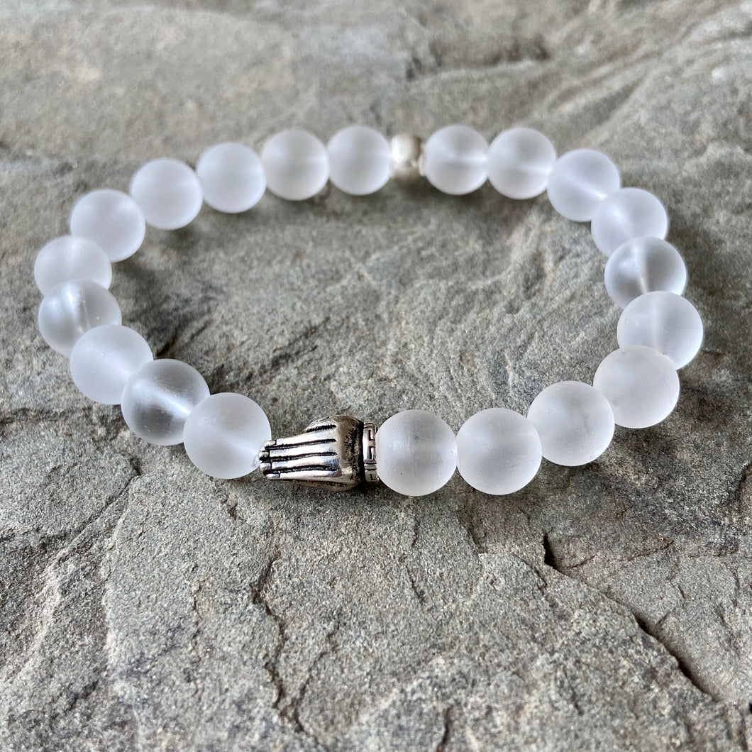 Bracelet - Clear Quartz + Sterling Silver