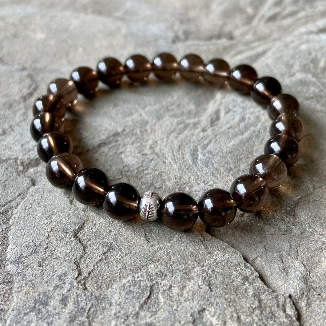 Bracelet - Smoky Quartz + Hill Tribe Silver