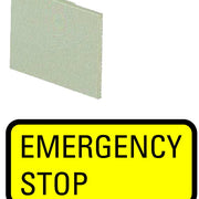 Etiqueta mini EMERGENCY STOP, 063199, 299SQ25
