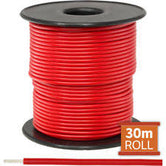Cable monopolar 22 awg 100 pies 300V 80C color rojo