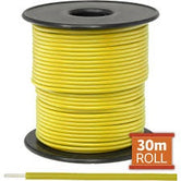 Cable monopolar 22awg 100 pies 300V 80C color amarillo