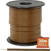 Cable monopolar 20 awg 100 pies 300V 80C color cafe
