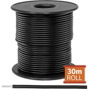Cable monopolar 16awg 100 pies 300V 80C color negro