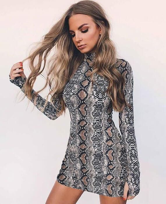 Snakeskin Mini Dress - ALLURE 🌹 ROSE