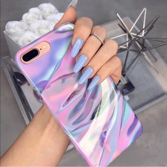 Violet Abstract Phone Case - ALLURE 🌹 ROSE