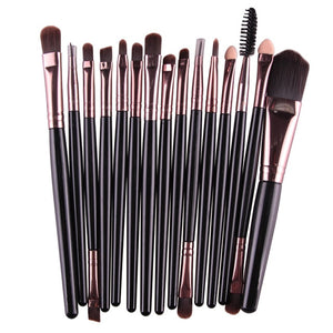 15Pc Makeup Brushes Set - ALLURE 🌹 ROSE