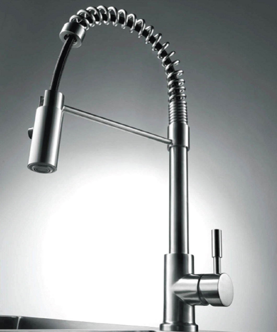 "AVALON 08005 ""Patricia"" – Contemporary Design Single Handle Kitchen Faucet with Pull-Down Spray (Brushed Nickel)"