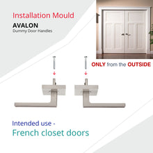 AVALON 0551 - DUMMY (French Closet) Door Handle Set