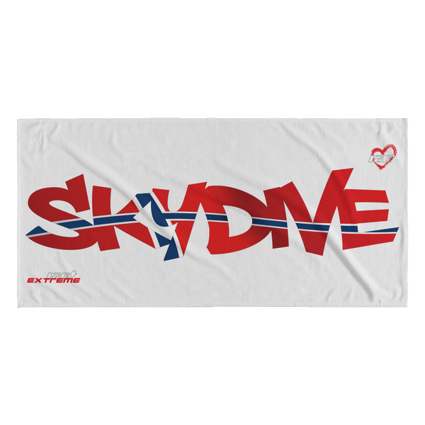 Skydiving T-shirts World Team - Skydive Norway - Beach Towels in 10 Colors, Beach Towel, teelaunch, Skydiving Apparel, Skydiving Apparel, Skydiving Gear, Olympics, T-Shirts, Skydive Chicago, Skydive City, Skydive Perris, Drop Zone Apparel, USPA, united states parachute association, Freefly, BASE, World Record,