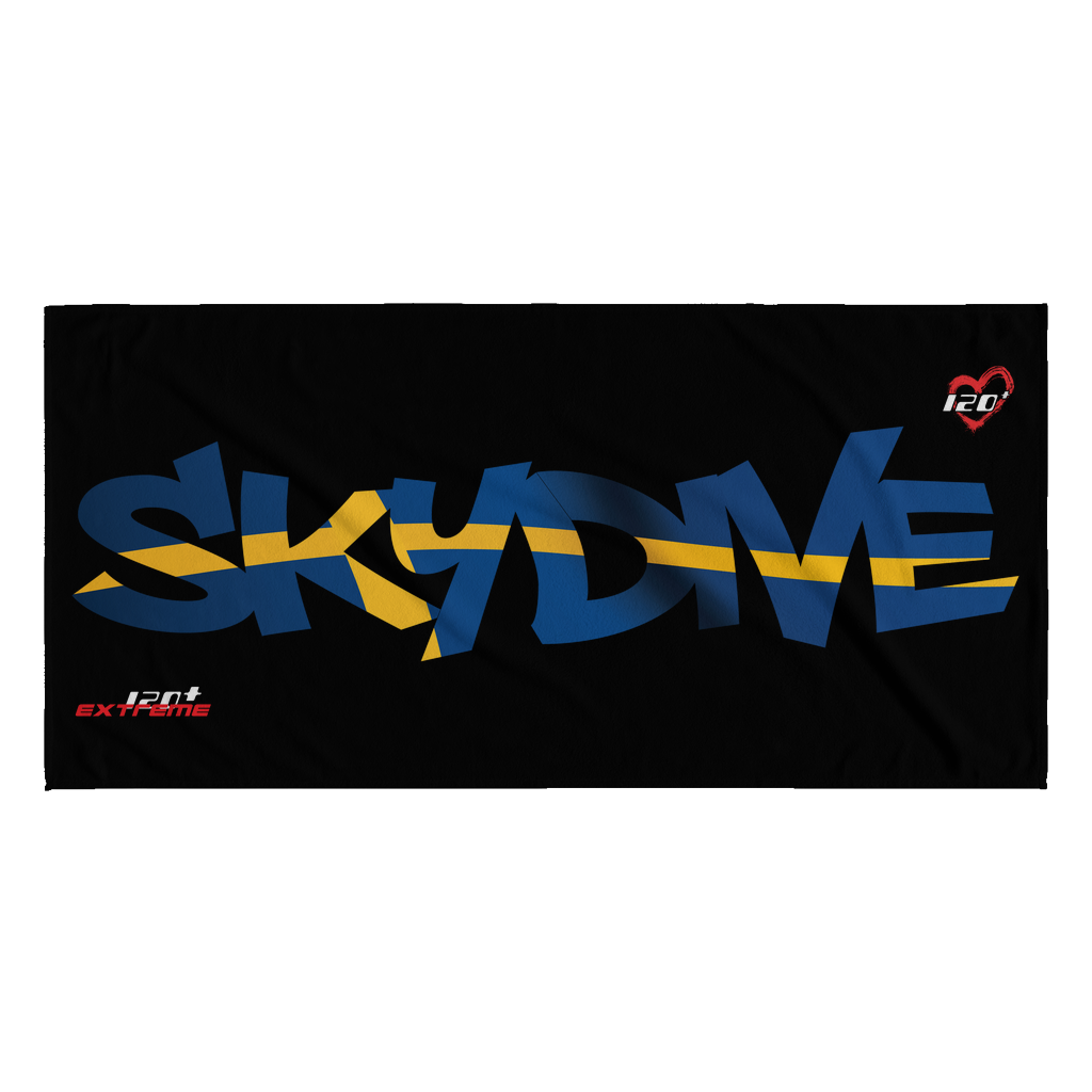 Skydiving T-shirts World Team - Skydive Sweden - Beach Towels in 10 Colors, Beach Towel, teelaunch, Skydiving Apparel, Skydiving Apparel, Skydiving Gear, Olympics, T-Shirts, Skydive Chicago, Skydive City, Skydive Perris, Drop Zone Apparel, USPA, united states parachute association, Freefly, BASE, World Record,