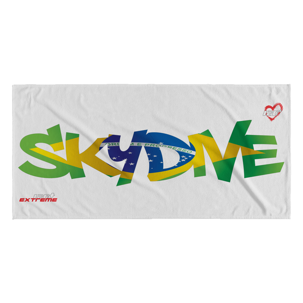 Skydiving T-shirts World Team - Skydive Brazil - Beach Towels in 10 Colors, Beach Towel, teelaunch, Skydiving Apparel, Skydiving Apparel, Skydiving Gear, Olympics, T-Shirts, Skydive Chicago, Skydive City, Skydive Perris, Drop Zone Apparel, USPA, united states parachute association, Freefly, BASE, World Record,