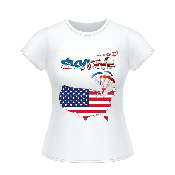 - Skydive All World - AMERICA - Ladies' Tee -