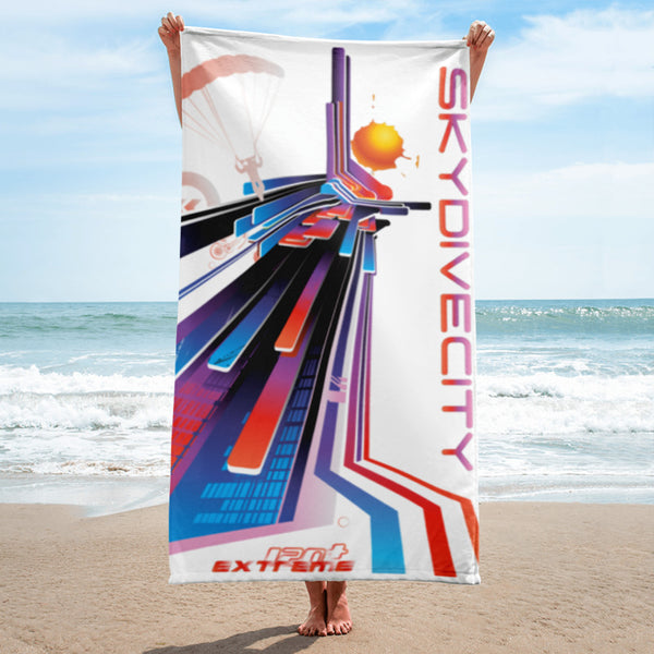 Skydiving T-shirts SkydiveCity Sunset - Beach Towel, Beach Towel, eXtreme 120+™ Skydiving Apparel, eXtreme 120+™ Skydiving Apparel, Skydiving Apparel, Skydiving Gear, Olympics, T-Shirts, Skydive Chicago, Skydive City, Skydive Perris, Drop Zone Apparel, USPA, united states parachute association, Freefly, BASE, World Record,