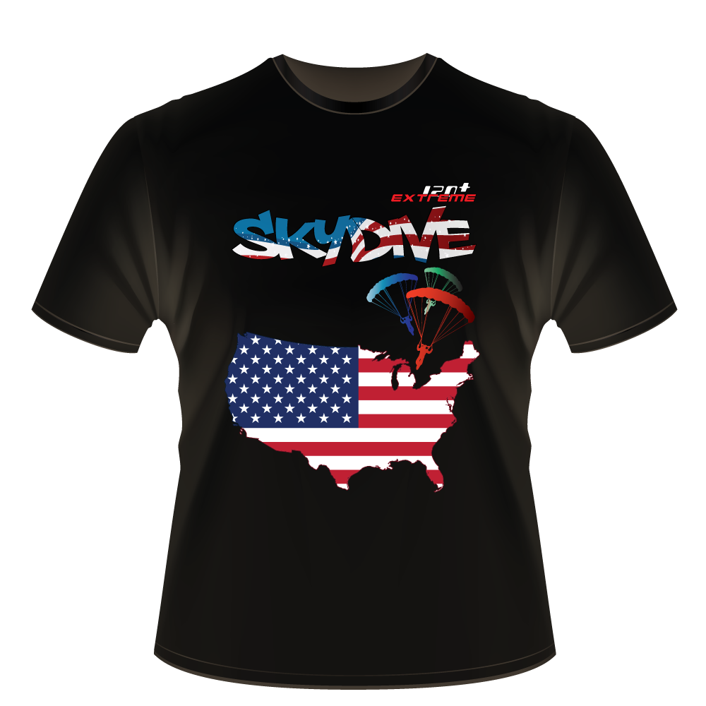Skydiving T-shirts - Skydive World - AMERICA - Cotton Tee -, Shirts, Skydiving Apparel, Skydiving Apparel, Skydiving Apparel, Skydiving Gear, Olympics, T-Shirts, Skydive Chicago, Skydive City, Skydive Perris, Drop Zone Apparel, USPA, united states parachute association, Freefly, BASE, World Record,