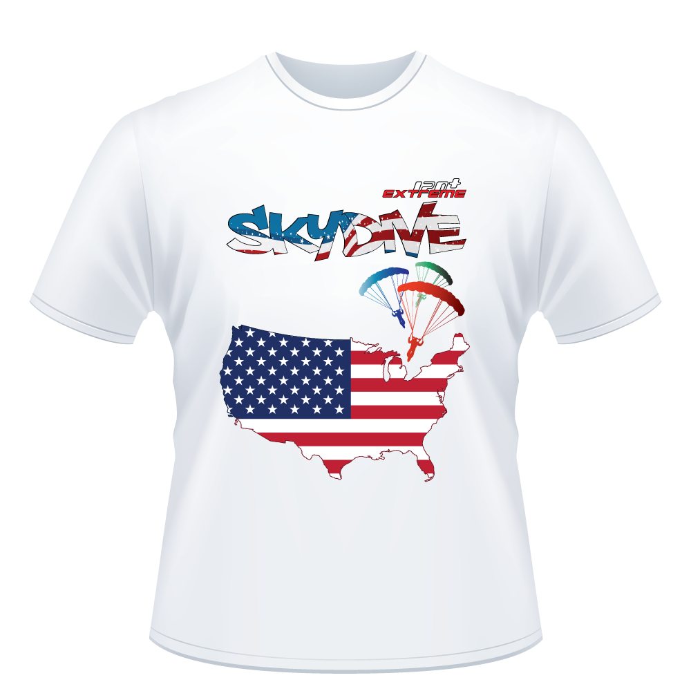 Skydiving T-shirts - Skydive All World - AMERICA - Unisex Tee -, Shirts, Skydiving Apparel, Skydiving Apparel, Skydiving Apparel, Skydiving Gear, Olympics, T-Shirts, Skydive Chicago, Skydive City, Skydive Perris, Drop Zone Apparel, USPA, united states parachute association, Freefly, BASE, World Record,