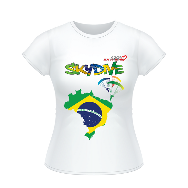 - Skydive All World - BRAZIL - Ladies' Tee -