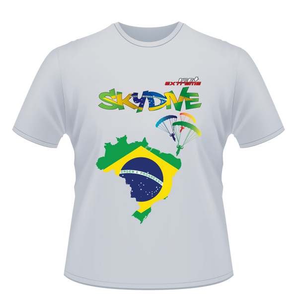 Skydiving T-shirts - Skydive World - BRAZIL - Cotton Tee -, Shirts, eXtreme 120+™ Skydiving Apparel, eXtreme 120+™ Skydiving Apparel, Skydiving Apparel, Skydiving Gear, Olympics, T-Shirts, Skydive Chicago, Skydive City, Skydive Perris, Drop Zone Apparel, USPA, united states parachute association, Freefly, BASE, World Record,