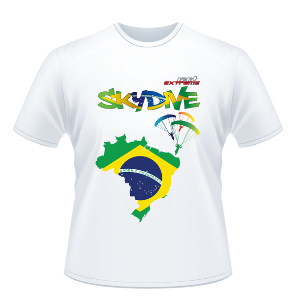 Skydiving T-shirts - Skydive All World - BRASIL - Unisex Tee -, Shirts, eXtreme 120+™ Skydiving Apparel, eXtreme 120+™ Skydiving Apparel, Skydiving Apparel, Skydiving Gear, Olympics, T-Shirts, Skydive Chicago, Skydive City, Skydive Perris, Drop Zone Apparel, USPA, united states parachute association, Freefly, BASE, World Record,