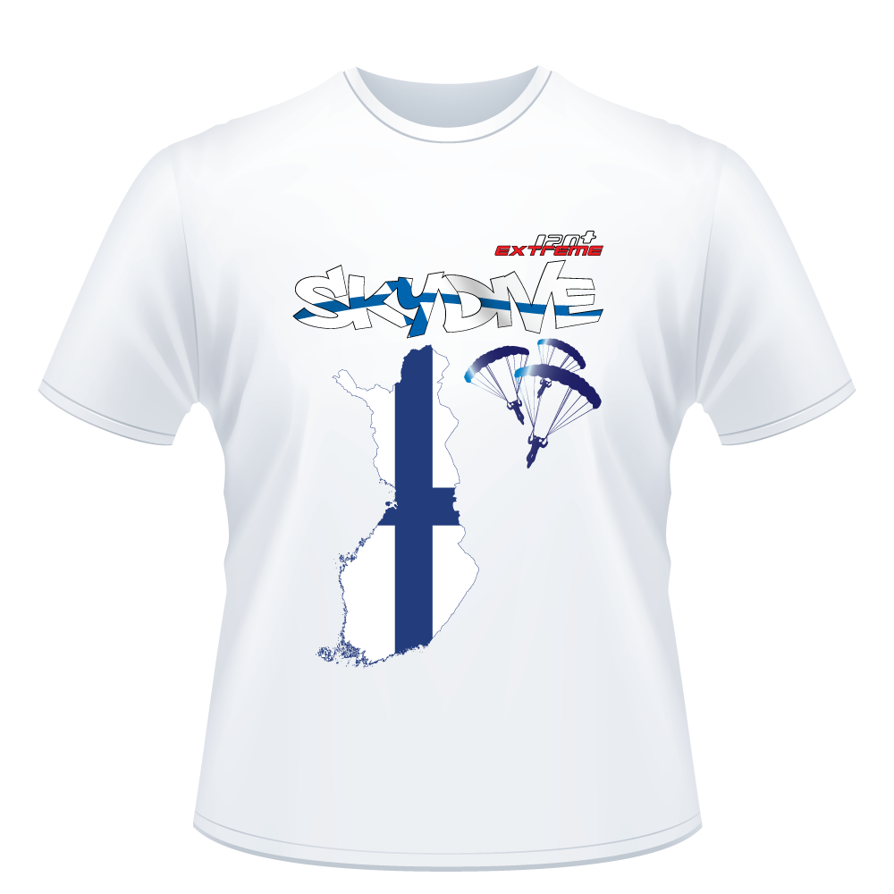 Skydiving T-shirts - Skydive All World - FINLAND - Unisex Tee -, Shirts, Skydiving Apparel, Skydiving Apparel, Skydiving Apparel, Skydiving Gear, Olympics, T-Shirts, Skydive Chicago, Skydive City, Skydive Perris, Drop Zone Apparel, USPA, united states parachute association, Freefly, BASE, World Record,