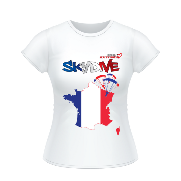- Skydive All World - FRANCE - Ladies' Tee -