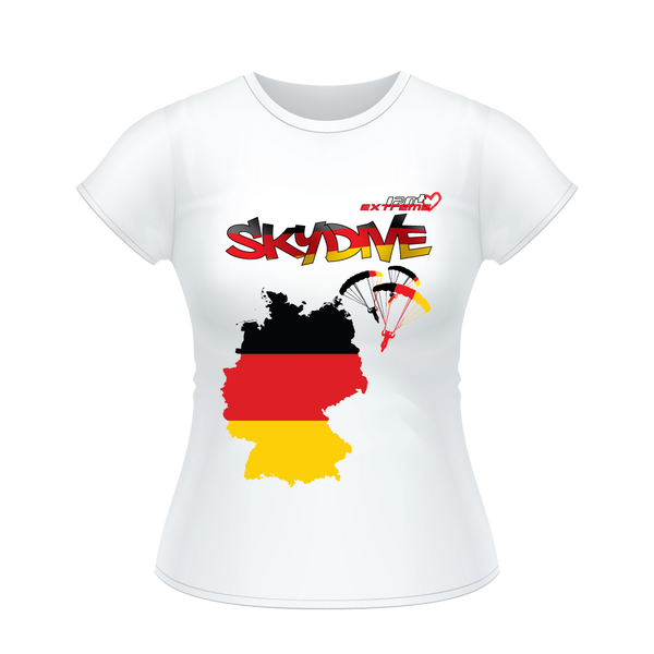 - Skydive All World - GERMANY - Ladies' Tee -