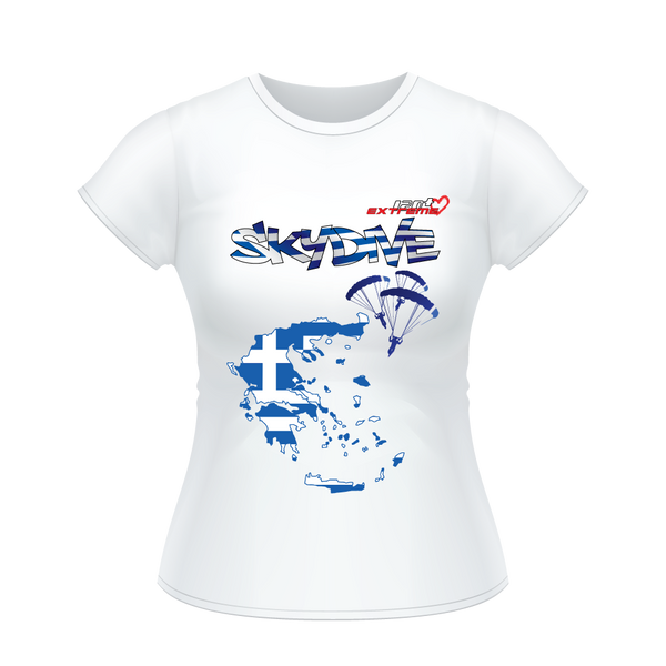 - Skydive All World - GREECE - Ladies' Tee -