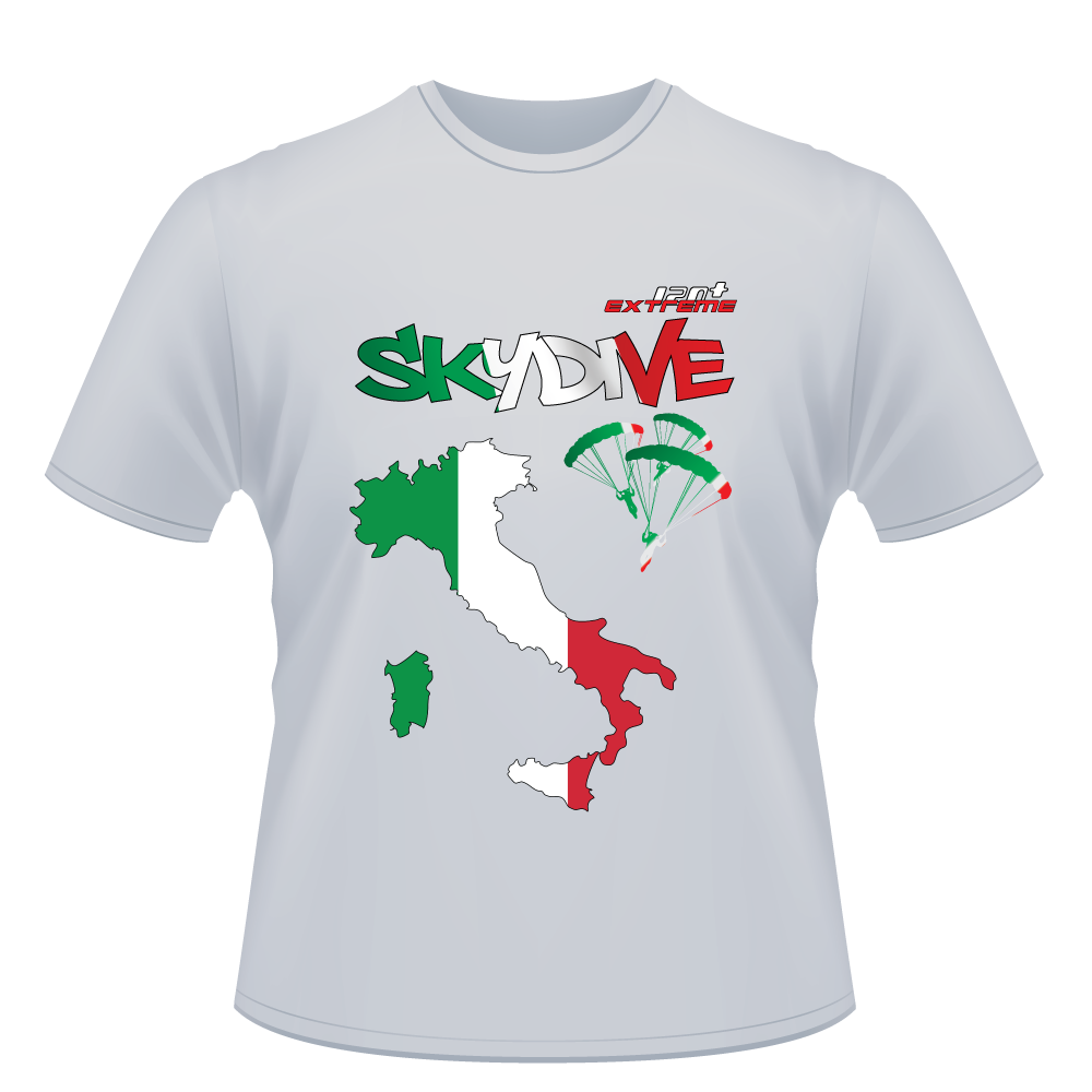 Skydiving T-shirts - Skydive All World - ITALY - Unisex Tee -, Shirts, Skydiving Apparel, Skydiving Apparel, Skydiving Apparel, Skydiving Gear, Olympics, T-Shirts, Skydive Chicago, Skydive City, Skydive Perris, Drop Zone Apparel, USPA, united states parachute association, Freefly, BASE, World Record,
