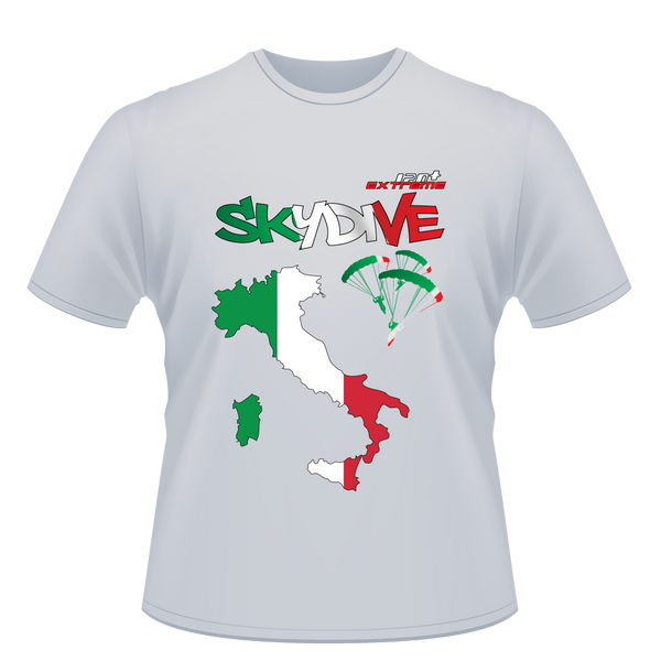 Skydiving T-shirts - Skydive World - ITALY - Cotton Tee -, Shirts, eXtreme 120+™ Skydiving Apparel, Skydiving Apparel, Skydiving Apparel, Skydiving Gear, Olympics, T-Shirts, Skydive Chicago, Skydive City, Skydive Perris, Drop Zone Apparel, USPA, united states parachute association, Freefly, BASE, World Record,