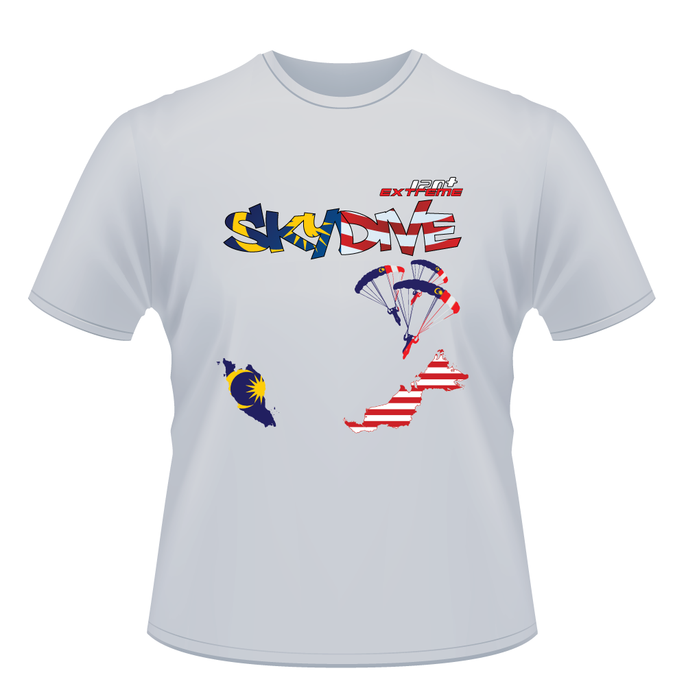 Skydiving T-shirts - Skydive World - MALAYSIA - Cotton Tee -, Shirts, Skydiving Apparel, Skydiving Apparel, Skydiving Apparel, Skydiving Gear, Olympics, T-Shirts, Skydive Chicago, Skydive City, Skydive Perris, Drop Zone Apparel, USPA, united states parachute association, Freefly, BASE, World Record,