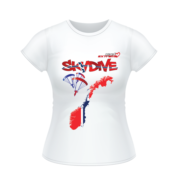 - Skydive All World - NORWAY - Ladies' Tee -