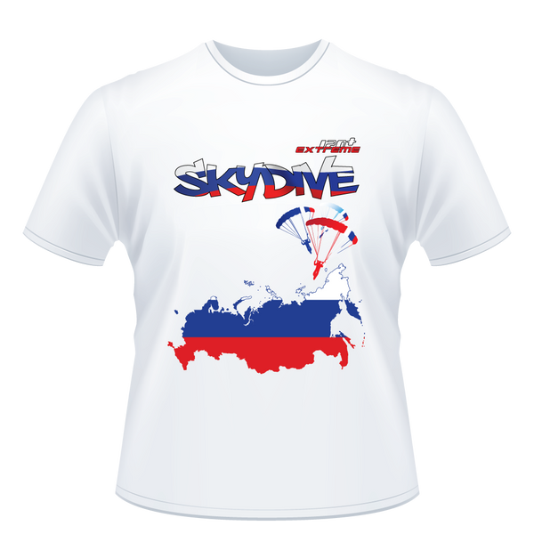 Skydiving T-shirts - Skydive All World - RUSSIA - Unisex Tee -, T-shirt, eXtreme 120+™ Skydiving Apparel, Skydiving Apparel, Skydiving Apparel, Skydiving Gear, Olympics, T-Shirts, Skydive Chicago, Skydive City, Skydive Perris, Drop Zone Apparel, USPA, united states parachute association, Freefly, BASE, World Record,
