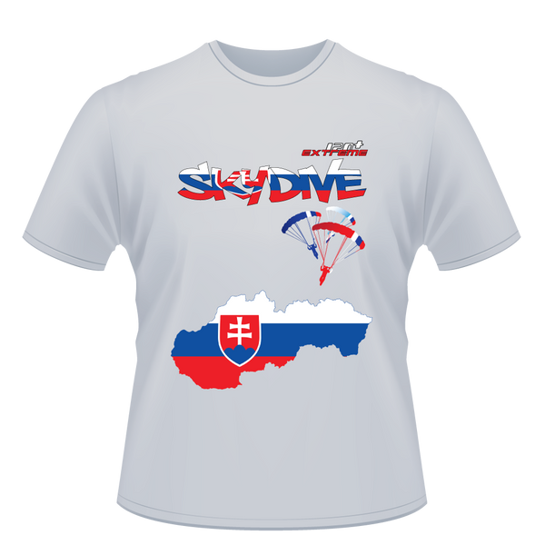 Skydiving T-shirts - Skydive World - SLOVAKIA - Cotton Tee -, Shirts, eXtreme 120+™ Skydiving Apparel, Skydiving Apparel, Skydiving Apparel, Skydiving Gear, Olympics, T-Shirts, Skydive Chicago, Skydive City, Skydive Perris, Drop Zone Apparel, USPA, united states parachute association, Freefly, BASE, World Record,