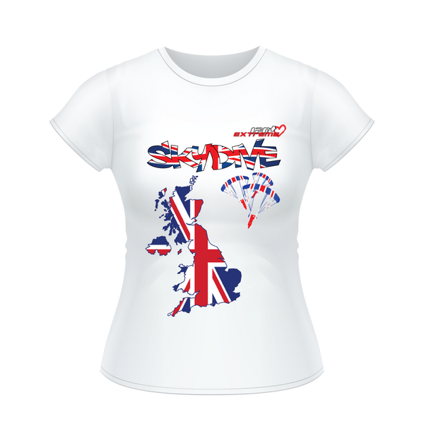 - Skydive All World - The United Kingdom (UK) - Ladies' Tee