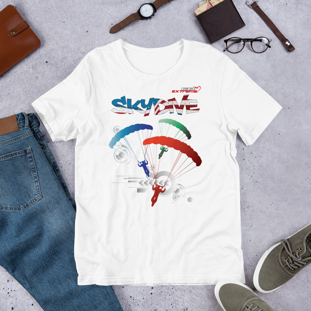 Skydiving T-shirts - Skydive Around - AMERICA - Ladies' Tee, Shirts, Skydiving Apparel, Skydiving Apparel, Skydiving Apparel, Skydiving Gear, Olympics, T-Shirts, Skydive Chicago, Skydive City, Skydive Perris, Drop Zone Apparel, USPA, united states parachute association, Freefly, BASE, World Record,