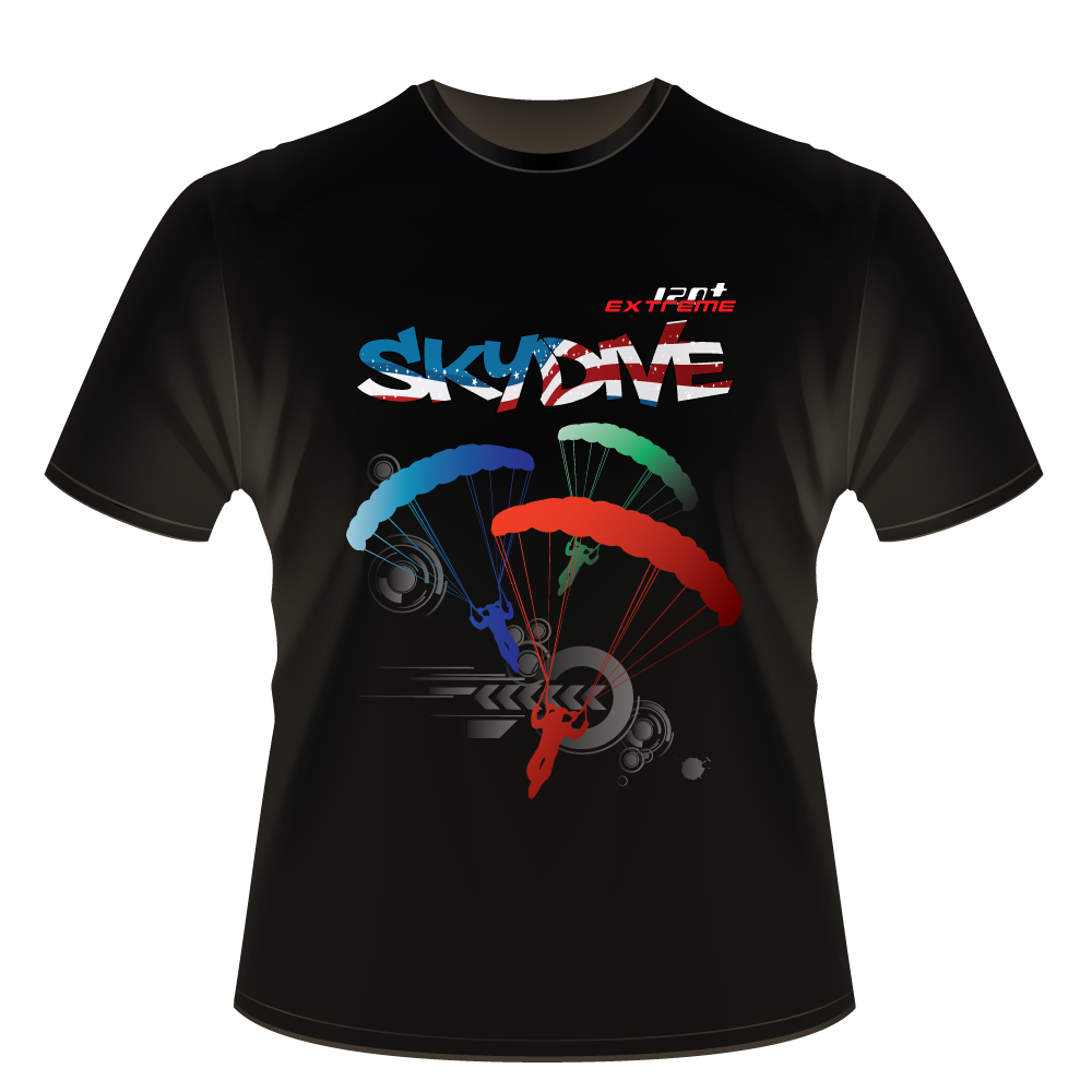 Skydiving T-shirts - Skydive World All Over - AMERICA - Cotton Tee -, Shirts, eXtreme 120+™ Skydiving Apparel, eXtreme 120+™ Skydiving Apparel, Skydiving Apparel, Skydiving Gear, Olympics, T-Shirts, Skydive Chicago, Skydive City, Skydive Perris, Drop Zone Apparel, USPA, united states parachute association, Freefly, BASE, World Record,