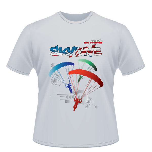 Skydiving T-shirts - Skydive Around World - AMERICA - Cotton Tee -, Shirts, eXtreme 120+™ Skydiving Apparel, eXtreme 120+™ Skydiving Apparel, Skydiving Apparel, Skydiving Gear, Olympics, T-Shirts, Skydive Chicago, Skydive City, Skydive Perris, Drop Zone Apparel, USPA, united states parachute association, Freefly, BASE, World Record,