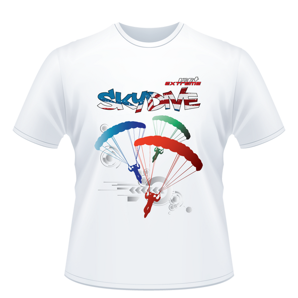 Skydiving T-shirts - Skydive Around - AMERICA - Unisex Tee -, Shirts, eXtreme 120+™ Skydiving Apparel, eXtreme 120+™ Skydiving Apparel, Skydiving Apparel, Skydiving Gear, Olympics, T-Shirts, Skydive Chicago, Skydive City, Skydive Perris, Drop Zone Apparel, USPA, united states parachute association, Freefly, BASE, World Record,